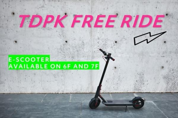 Free scooter sharing at TDPK