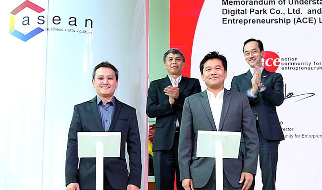TRUE DIGITAL PARK JOINS WITH ACE SINGAPORE IN THE GLOBAL INNOVATION ALLIANCE BANGKOK, CREATING AN INTEGRATED START-UP ECOSYSTEM IN SOUTHEAST ASIA'S DIGITAL HUB.